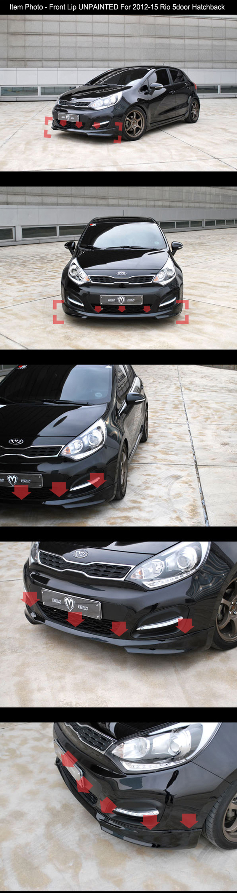 Kia Rio 5 Dr Hatch 2005 to 2009 Ft Bumper Not Primed