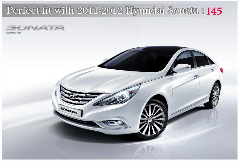 YF Sonata 3D K Logo Front Hood Rear Trunk Emblem 2p For 2011-2014 Hyundai i45