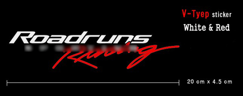 Roadruns Front Logo Sticker RS-TYPE White /& Red For All Universal Vehicles